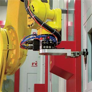 Kettenwechsler mit Roboterbeschickung
