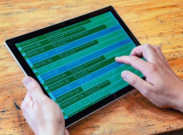 Tablet Datendurchgängigkeit