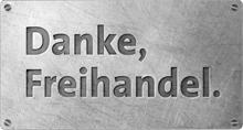 Logo Danke, Freihandel.